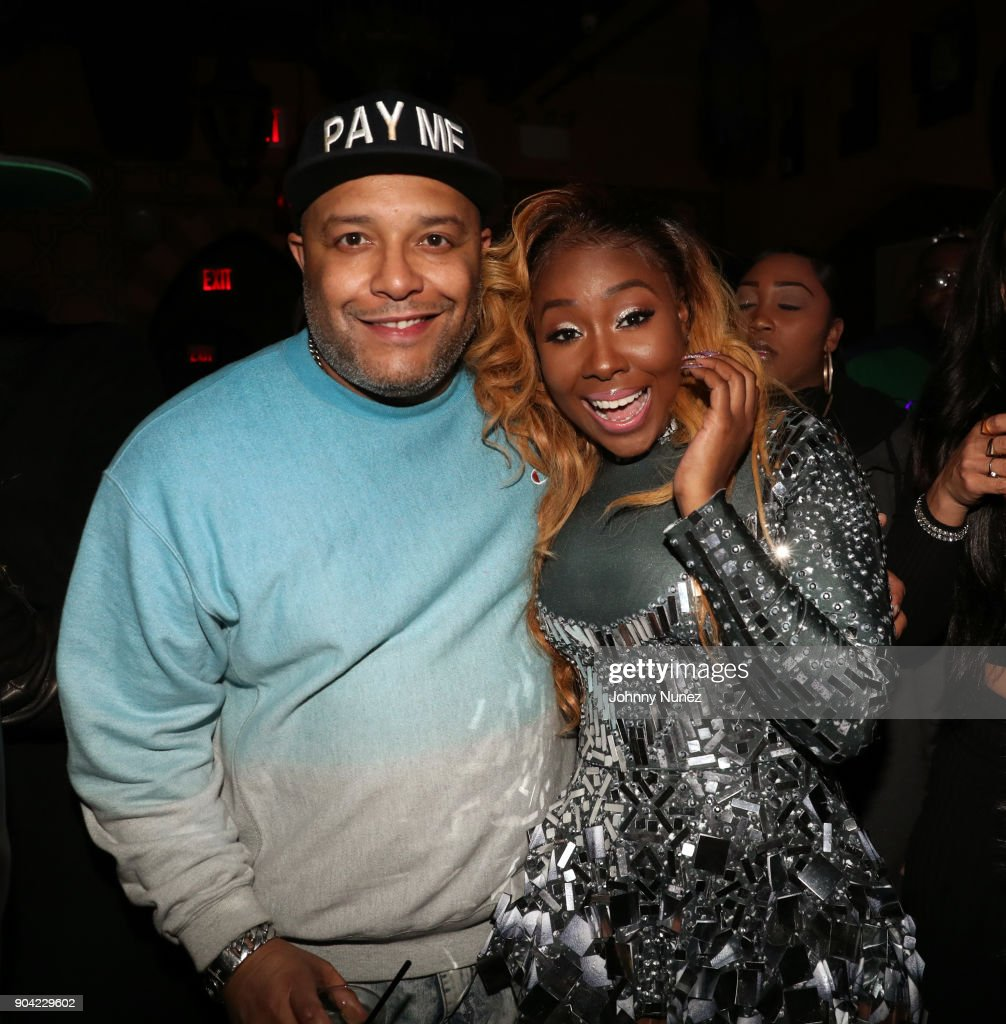 Mr. Shampoo (L) and Bianca Bonnie attend Bianca Bonnie's '10 Plus' Album Release Party at Le Souk on January 11, 2018 in New York City.