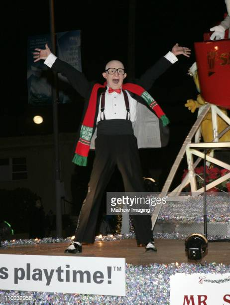 Mr Six from Six Flags during The 73rd Annual Hollywood Christmas Parade Parade Route at Hollywood Roosevelt Hotel in Hollywood California United...