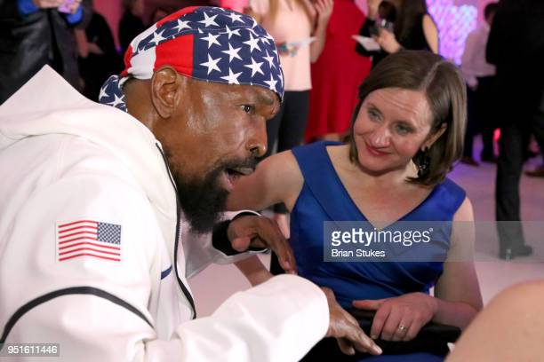 Mr T and Cheri Blauwet attends the Team USA Awards at the Duke Ellington School of the Arts on April 26 2018 in Washington DC