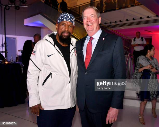Mr T and Larry Probst attend the Team USA Awards at the Duke Ellington School of the Arts on April 26 2018 in Washington DC