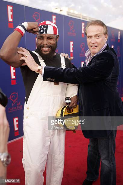 Mr. T and Lee Majors during 2005 Taurus World Stunt Awards - Red Carpet at Paramount Studios in Los Angeles, California, United States.