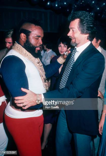 Mr T and Stephen J Cannell at the Opening Party for Stephen J Cannell New Office Stephen J Cannell Office Hollywood