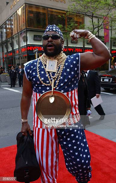 Mr T arrives for the NBC 75th Anniversary celebration taking place live in Studio 8H in Rockefeller Center in New York City May 5 2002 Photo by Frank...