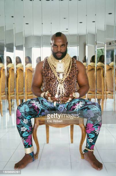 Mr T at home in Los Angeles.