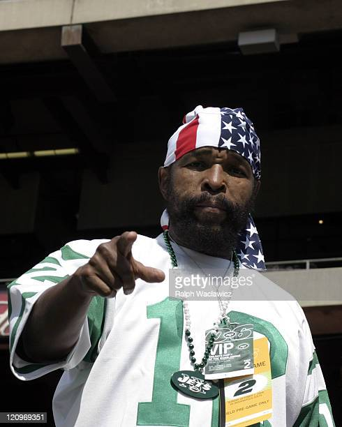 Mr T at the New York Jets 31 to 28 loss to the Indianapolis Colts at Giants Stadium in East Rutherford New Jersey on September 10 2006