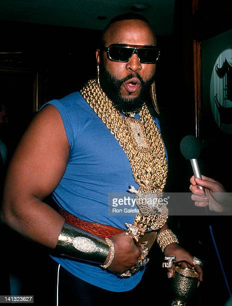 Mr T at the Pierre Cossett Superbowl Party Chasen's Restaurant Beverly Hills