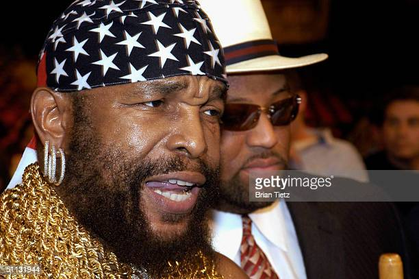 Mr T attends Tyson Vs Williams fight held at Freedom Hall July 30 2004 in Louisville Kentucky