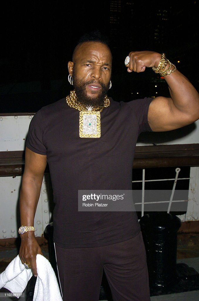 Mr. T during The Hanes Perfect T Party - August 16, 2005 at The Peking at the South Street Seaport in New York City, New York, United States.