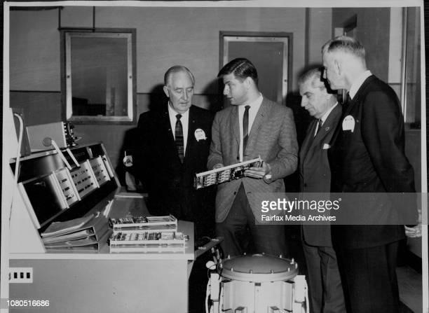 Mr T H Skelton NSW Director of Posts amp Telegrams Mr A Benedek Engineer in charge of Electronic Equipment Senator Ken Anderson Mr M G Shaw Asst...