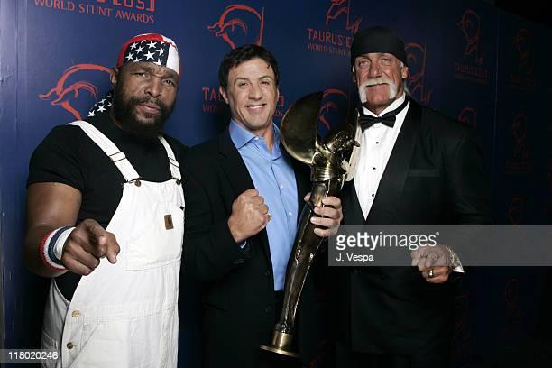 Mr T Sylvester Stallone winner of Action Movie Star award and Hulk Hogan