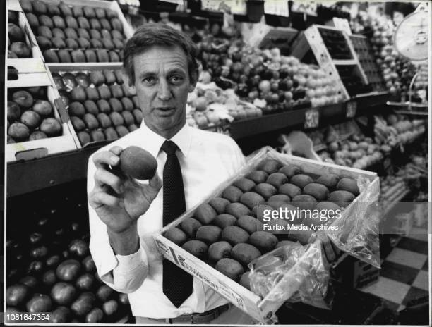 Mr Westbrook Haines Agriculturologist Photo graphed at Botanical Gardens and with Kiwi Fruit at fruitologist at Taylor Square***** but it's largely...