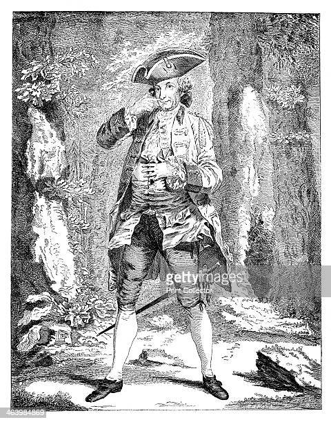 'Mr Woodward in the character of Mercutio' 1753 Actor Henry Woodward in the part of Mercutio from Shakespeare's Romeo and Juliet Illustration from...