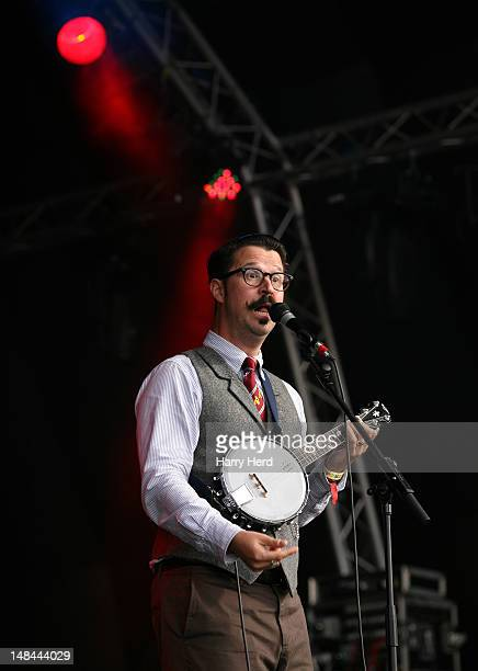 MrB The Gentleman Rhymer performs at Guilfest at Stoke Park on July 15 2012 in Guildford England