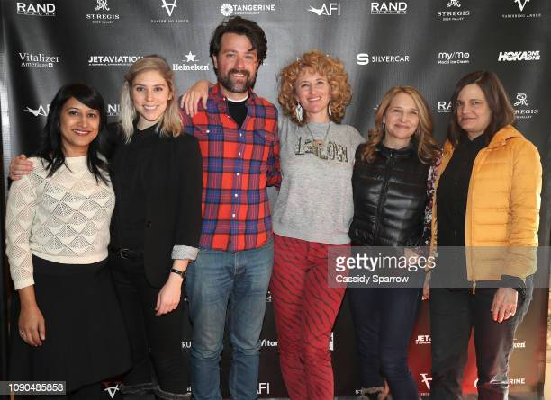Mridu Chandra Mia Schulman Matt Miller Amber Sealey Anne Hubbell and Amy Hobby attend Tangerine Entertainment's Reception for 'How Does it Start'...