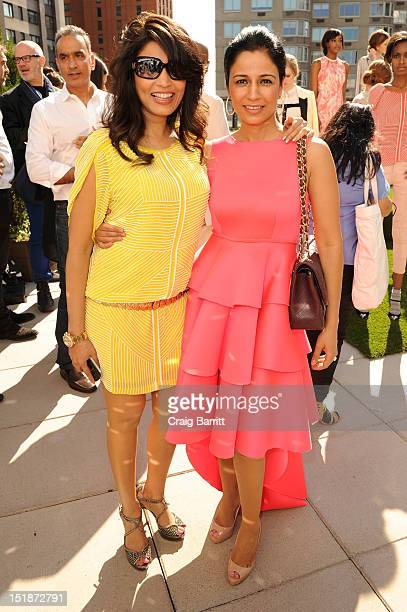 Mrinalini Kumari and guest attend the Renzo Kai Spring 2013 fashion show presentation during MercedesBenz Fashion Week at Empire Hotel on September...