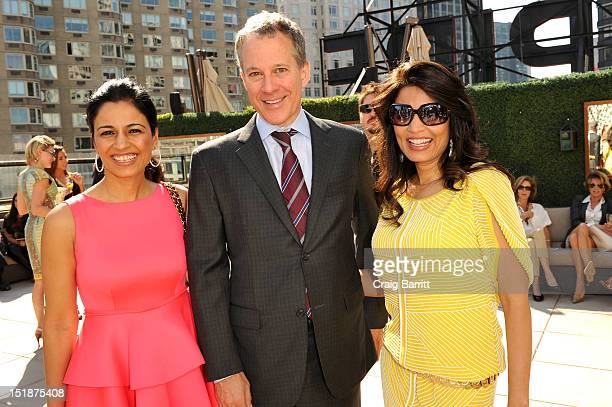 Mrinalini Kumari and guests attend the Renzo Kai Spring 2013 fashion show presentation during MercedesBenz Fashion Week at Empire Hotel on September...