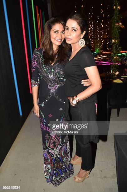 Mrinalini Kumari and Kashmi Kumari attend the Parrish Art Museum Midsummer Party 2018 at Parrish Art Museum on July 14 2018 in Water Mill New York