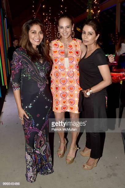 Mrinalini Kumari Lisa Fields Lewis and Kashmi Kumari attend the Parrish Art Museum Midsummer Party 2018 at Parrish Art Museum on July 14 2018 in...