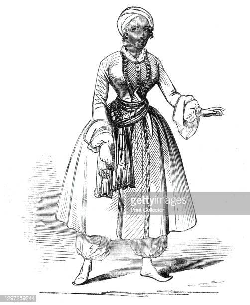 """Mrs A. Shaw, in the new opera of """"The Brides of Venice"""", at Drury-Lane Theatre, 1844. Opera singer Mary Shaw, in blackface, 'in the part of the..."""