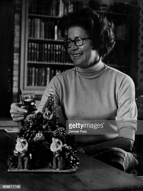 Mrs Adolph Coors III above is decorating her house for Christmas and along with Mrs J Ramsay Harris she's planning a Dec 27 London evening at the...