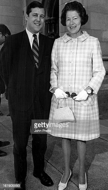 APR 20 1969 JUN 1 1969 Mrs Adolph Coors III and her soninlaw James Alden Eldridge were among guests at one of the weddings on spring social scene