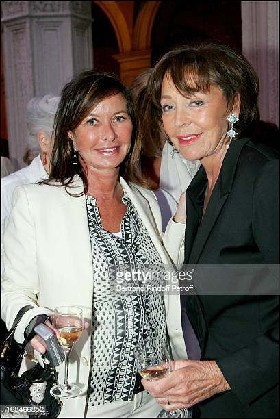 Mrs Alain Dominique Perrin and Lise Toubon at Annette Messager Reception At The French Pavilion During The 51st Venice Biennial