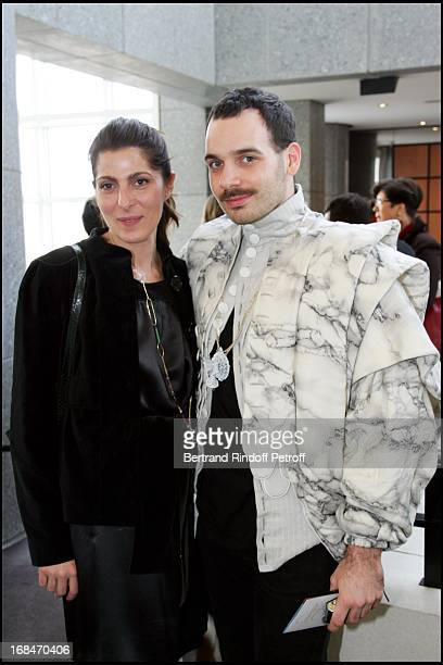 Mrs Alexandre Vilgrain and Pierre Marie Agin Arop Gala at the Bastille Opera for 'Reve D'Enfants' Coppelia Ballet by Patrice Bart
