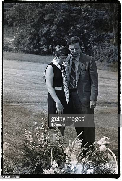 LARKSVILLE PA7/18/70 Mrs and Mr Joseph Kopechne parents of Mary Jo visited her graveside here on the anniversary of her death They attended an early...