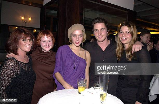 Mrs Bale Chloe Sevigny and friend Alana Gabin Christian Bale and wife