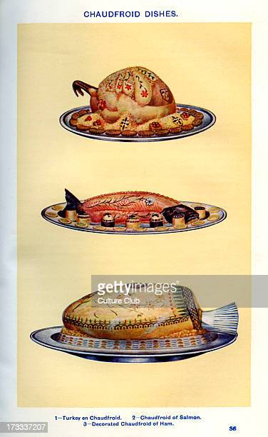 Mrs Beeton 's cookery book chaudfroid dishes Turkey en chaudfroid Chaudfroid of salmon Decorated chaudfroid of ham New edition of the cookerybook...