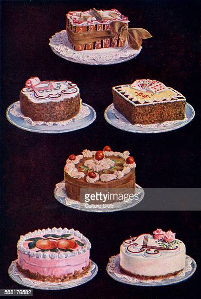 cakes and gateaux showing various styles of icing and decoration New edition of the cookerybook first published 1861 Isabella Mary Beeton English...