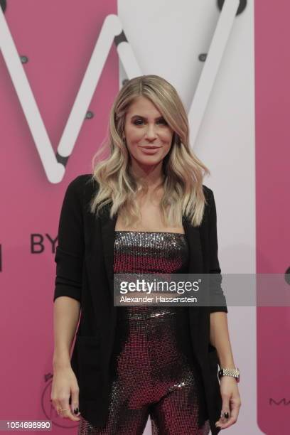 Mrs Bella arrives at the pink carpet for the GLOW The Beauty Convention at Station on October 27 2018 in Berlin Germany