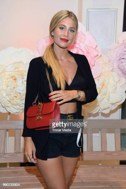 Mrs Bella attends the 'Lvly' care series launch by Paola Maria and DM Drugstore at Invalidenstrasse on July 2, 2018 in Berlin, Germany.