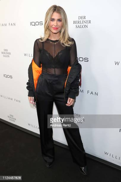 Mrs Bella attends the William Fan Defile during 'Der Berliner Salon' Autumn/Winter 2019 at Knutschfleck on January 15 2019 in Berlin Germany