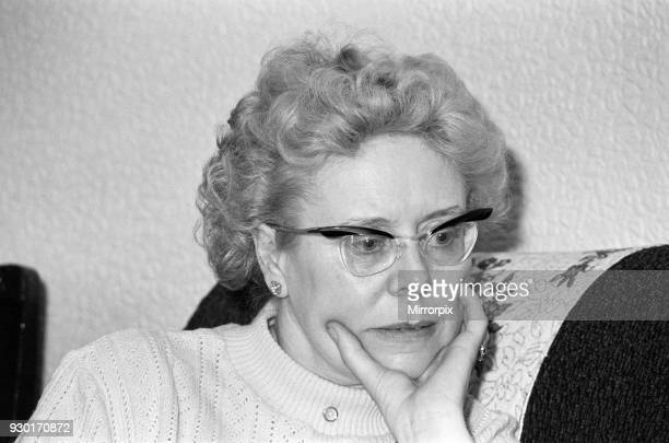 Mrs Beryl Leach mother of Ripper victim Barbara Leach at her home in Kettering 7th May 1981