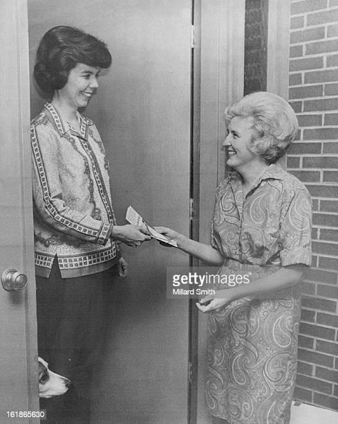 JAN 24 1970 JAN 25 1970 Mrs Betty Peterson Calls On Mrs Paul Beck Of 2409 S Lima St Aurora Mrs Peterson 2420 S Lima St Aurora is an area coordinator...