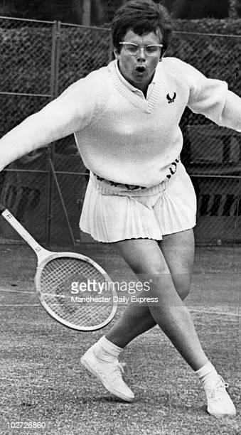 Mrs Billie Jean King July 1969. Dublin Tennis. Mrs Billy Jean King, July 1969.