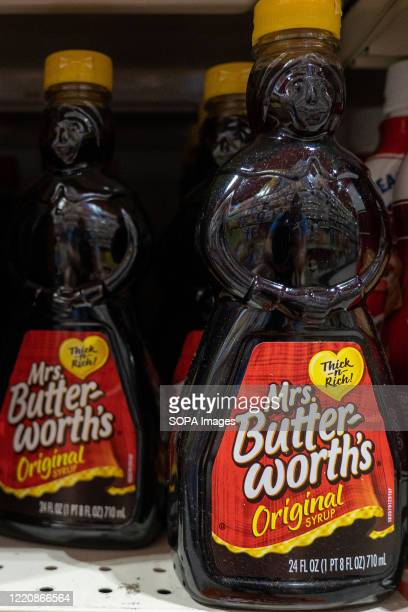 Mrs Butterworths products seen displayed on supermarket shelves After decisions by Aunt Jemima and Uncle Bens to overhaul their imaging in the wake...
