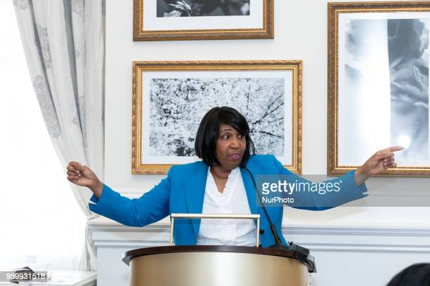 Mrs Candy Carson delivers the keynote addresss at a luncheon in Celebration of Motherhood hosted by Evangelist Alveda C King niece of Dr Martin...
