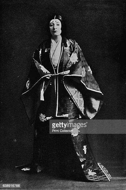 Mrs Charles Burnett in 15thCentury Japanese Court costume' c1900 Mrs Burnett's poems written in Japanese have received Imperial recognition From...