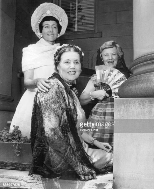 Mrs Charles Eatchel Miss Caroline Bancroft Mrs Paul Von Rosenberg Rosenberg from left made plans for Aug 1 Credit Denver Post
