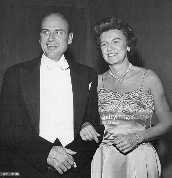 OCT 8 1960 OCT 10 1960 Mrs Charles Kendrick and Willett Moore chat at the party which opened Denver's fall social Crown of the Andes is on display...
