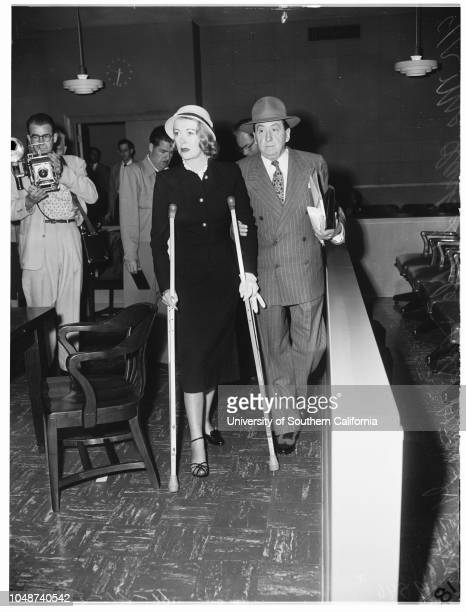 Mrs Clark Gable gets divorce 21 April 1952 Attorney Jerry GieslerMrs Clark Gable Caption slip reads 'Photographer Gaze Date Reporter Gaze Assignment...