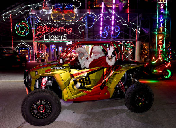NV: Las Vegas Motor Speedway Opens As Holiday Drive-Thru Light Show