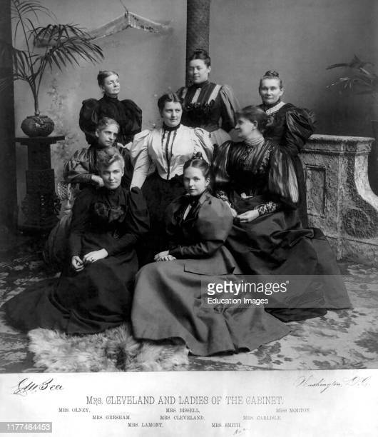 Mrs Cleveland and Ladies of the Cabinet Photograph by Charles Milton Bell Washington DC USA 1894