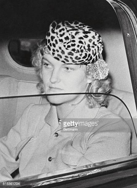 Mrs Cromwell Confers with Britisher on Evacuation of Children Queens New York Mrs James HR Cromwell the former Doris Duke in her limousine after...