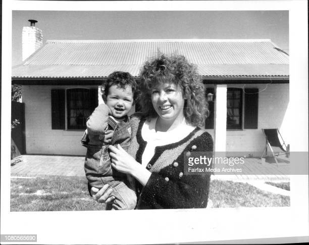 Mrs Deb Lance and Dominique 18 months at their home in Queanbeyan Deb is the wife of Captain of the Canberra Raiders Dean Lance September 23 1987
