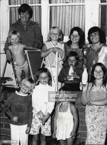 Mrs Doris Burgin of Asheroft and some of her family outside their home tonightThe family has been hit by the Milk Price going upBelow Mrs Doris...