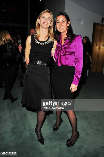 Mrs Dutrell and Charlotte Sarkozy attend LYCEE FRANCAIS De NEW YORK Gala 2009 Preview at Magic Room NYC on January 12 2009