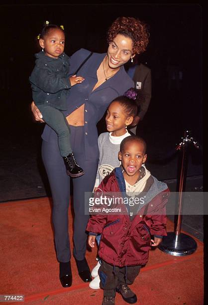Mrs. Eddie Murphy and her children attend a benefit at the Manhattan Children's Museum October 3, 1996 in New York City. The benefit honored Duchess...